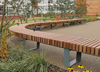 Haberdashers school curved seating