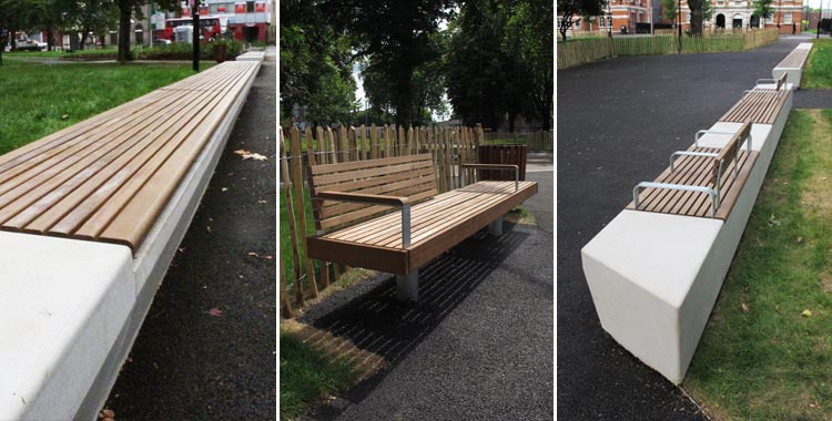 Tottenham Green landscape project with Furnitubes
