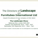 Furnitubes at the Landscape Show 23 & 24 September '14
