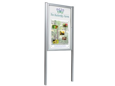 Display Cases - Economy Post Mounted