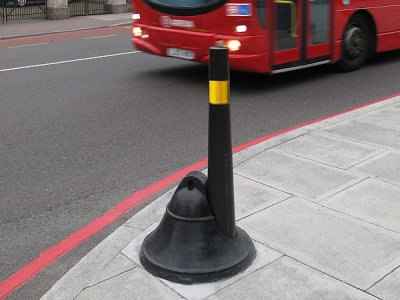 BELL150 Bell with 150mm dia hole and CAP100 Capital cast iron bollards