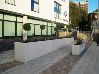 Concrete Planters supplied to Bexley College