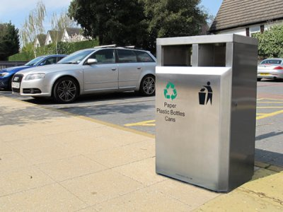 CAL650 S Caledonian Recycling stainless steel litter bin