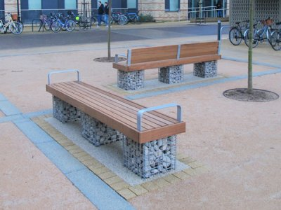 Elements® Gabion 2.4m Seat and Bench