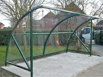 ALP821-4100 Alpine cycle shelter with polycarbonate roof