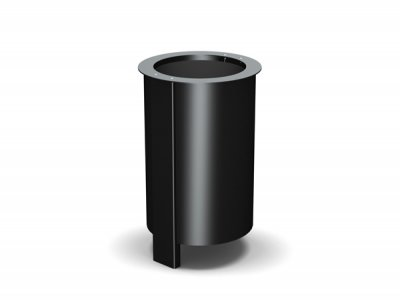 ARC 3 – extended frame for below-ground fixing Arca litter bin in PPC black with stainless steel aperture rim
