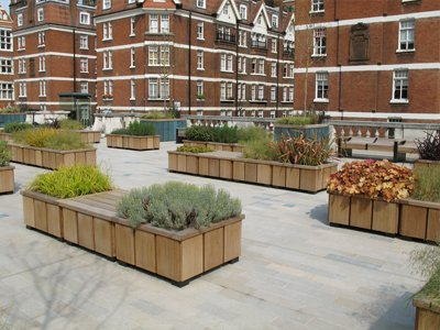 Steel and timber planters, Brown Hart Gardens