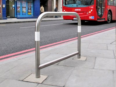 CAP600 S TP WHT Capital satin polished stainless steel cycle stands