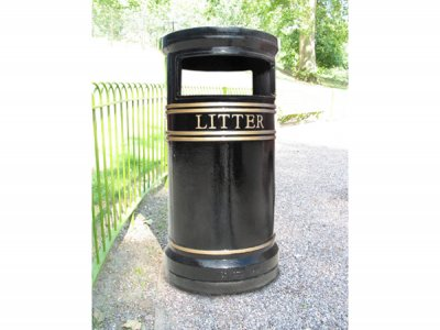 COV803 LR Covent Garden Large Circular cast iron litter bin