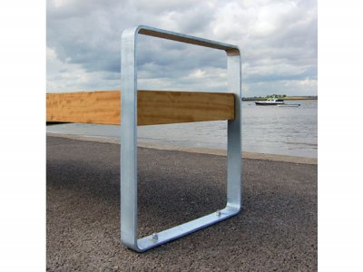 Elements bench open frame integral arm