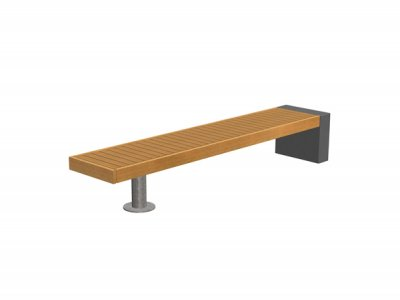 Elements bench with combined concrete and post supports (special)