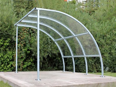 FIN3 ECO Fin Economy cycle shelter with galvanised steel frame