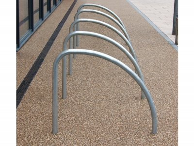 FIN480 Fin galvanised steel cycle stands