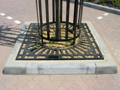 GS1270 Greenwich Square Tree Grille and GCG701 Tree Guard, Rockingham Park, Colby, Northampton.