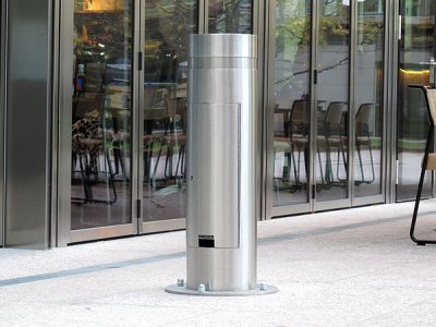 KEN717B S Kenton Service stainless steel base plated bollard
