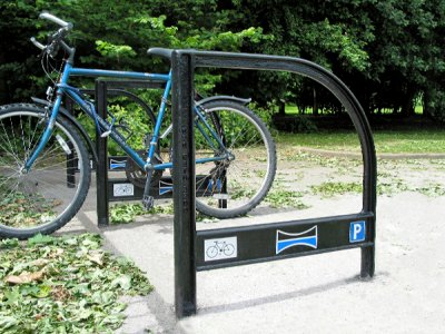 LAM750S Lambeth cycle stands with parking symbols (special commission),  East Yorkshire