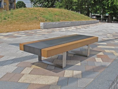 PDSE1 Podium seat platform with L70F open frame seat supports in stainless steel (wide only)
