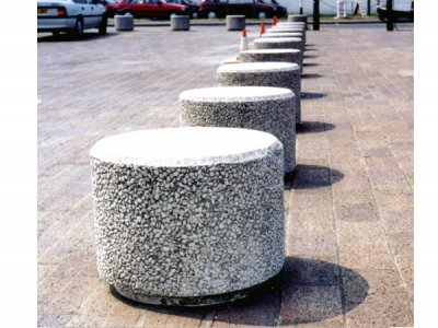 PAB NR Poole exposed aggregate finish concrete bollard