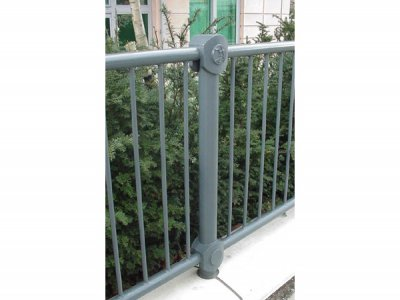 Romney full guardrail with corporate logo (special commission), London