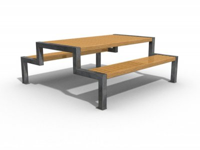 THE XWT6 M Thetford picnic bench & table, extra-wide table with medium slats