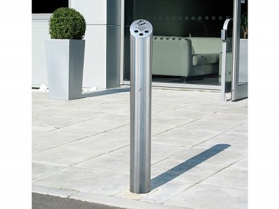 ZEN215 Zenith satin polished stainless steel root fixed cigarette bollard
