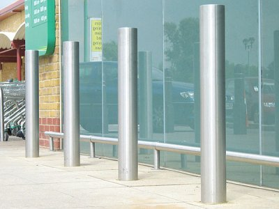 ZEN701SC Zenith Security satin polished stainless steel bollards