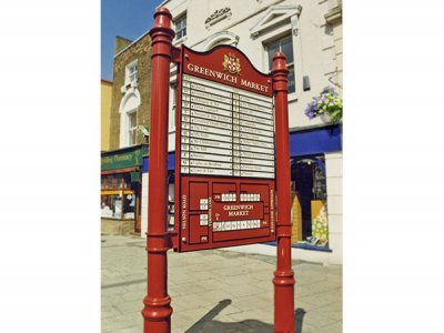 Greenwich Market Board with replaceable individual Sign Plates