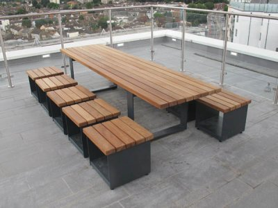 Hollo steel and timber low seating tables furnitubes for Table 3m long
