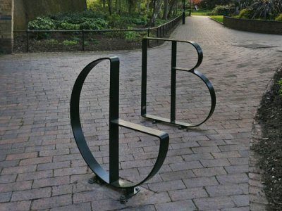 Letterform Cycle Stands G & B