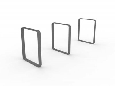 Blank Letterform Cycle Stands