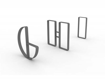 Letterform Cycle Stands G, H & I