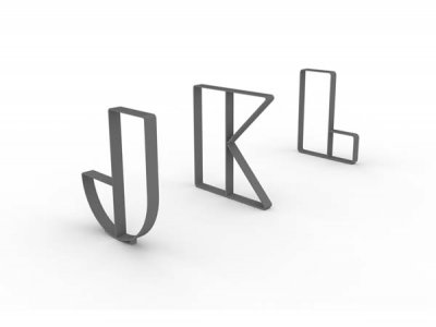 Letterform Cycle Stands J, K & L
