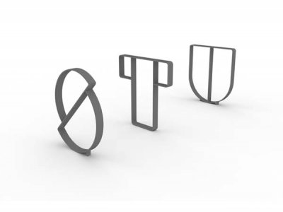 Letterform Cycle Stands S, T & U