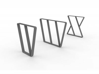 Letterform Cycle Stands V, W & X