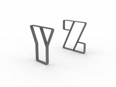 Letterform Cycle Stands Y & Z
