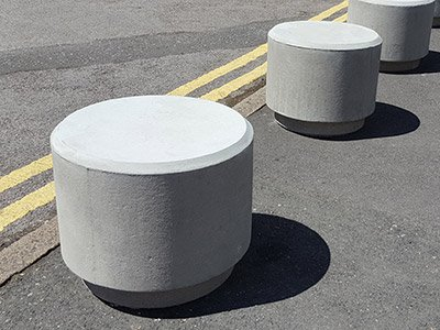 PAB SG Poole smooth grey finish concrete bollard