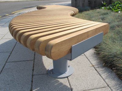 RailRoad Loop bench detail.
