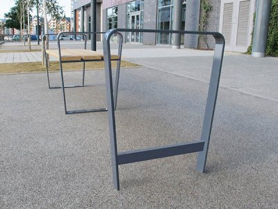 RIB 515 galvanised steel, root fixed cycle stand