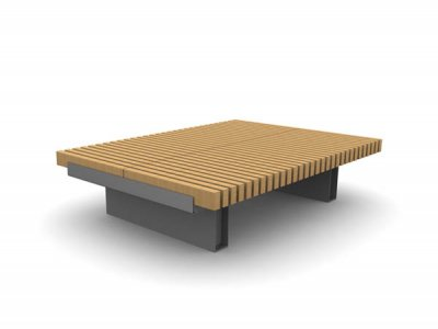 RailRoad Edge double width seating platform.