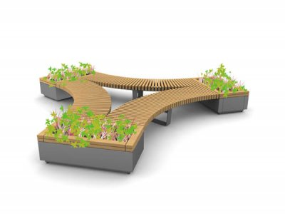 RailRoad seat & planter - Propeller layout.