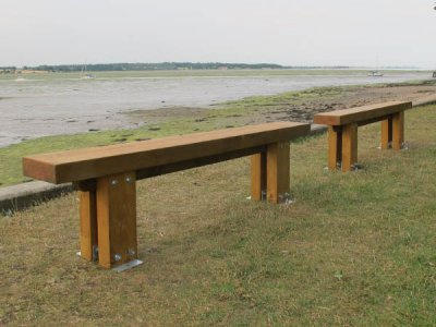 Stark Benches with Single Slats