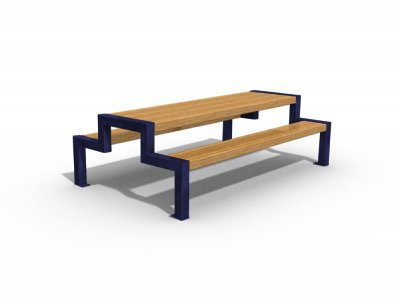 THE JT6 L Thetford picnic bench & table, PPC blue, junior version with large slats