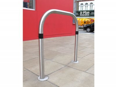 TRL600 S BLK Transport satin polished stainless steel cycle stand without tapper plate