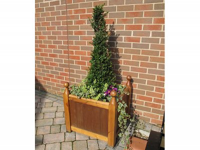 Versailles Chamfered Timber Planter - installed at Kings Heath Baptist Church, Birmingham