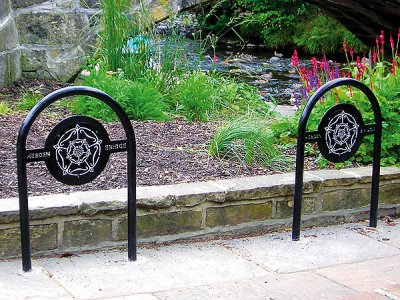 Yorkshire Rose Cycle Stands, supplied to Hebden Bridge, Yorkshire