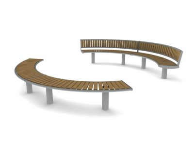 Horizon open circle - 2 x bench units and 2 x seat units with backrests
