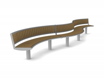 Horizon geometric wave form - 3 x seat units with backrests continuous run