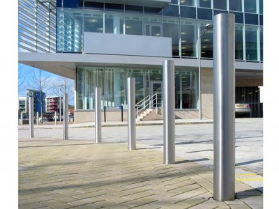 ZEN701 Zenith satin polished stainless steel bollards