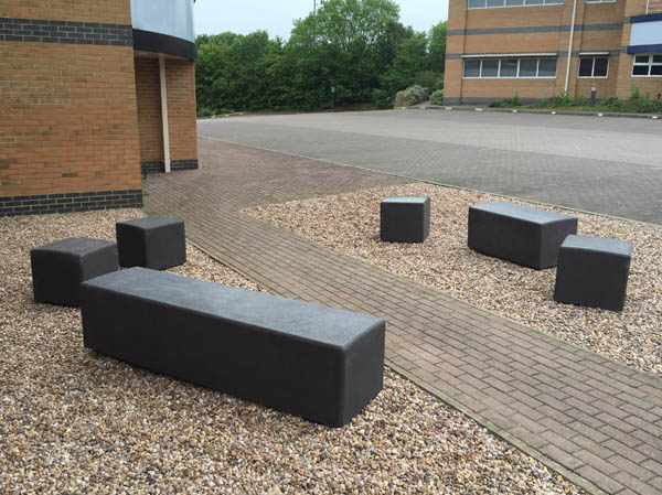 Blyth Outdoor Concrete Bench For Parks Amp Public Sites