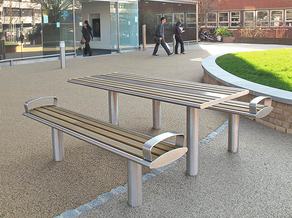 Zenith Picnic Benches Picnic Tables - Stainless steel picnic table